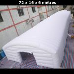 abri gonflable 72x16x6 metres