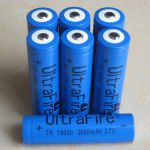 Batteries 18650 pour torches leds (bleu) 3.7V 3 Ah (Lot 10 pcs)