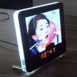 cadre photo led horloge