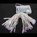 Guirlande led 3m violet avec piles - Ref GRLLED19 (Lot 100 pcs)
