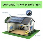 kit solaire 1KW off grid