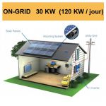 Kit solaire complet ON-GRID 30 KW (120 KW/jour)