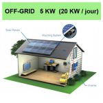 kit solaire 5KW off grid
