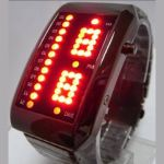Montre m�tal 41 leds (lot de 10 pi�ces)