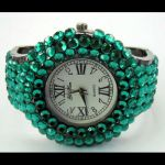 Montre Quartz avec bracelet strass - WS1140 (Lot de 10 pcs)