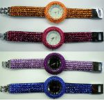 Montre Quartz avec bracelet strass - WS1142 (Lot de 10 pcs)