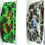 montre camouflage led