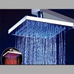 Pommeau douche carré led 3 couleurs (Lot 10 pcs)