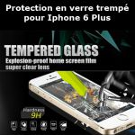 Protection en verre trempé pour Iphone 6 Plus (Lot 50 pcs)