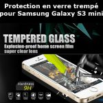 Protection en verre trempé pour Samsung Galaxy S3 mini (Lot 50 p