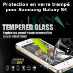 Protection verre trempé pour Samsung S4 (Lot 50 pcs)