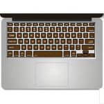 Stickers pour clavier laptop Apple - Ref STKLAP15 (Lot 100 pcs)
