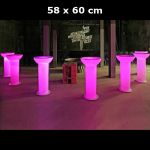 Table / colonne lumineuse 58 x 60 cm - HS8026B (Lot 10 pcs)
