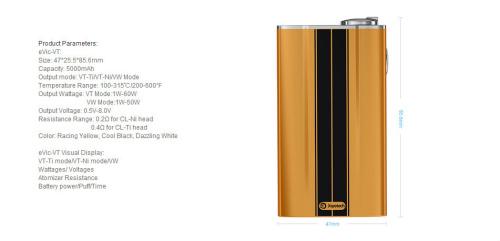 Coffret cigarette electronique Joyetech EVic VT 2