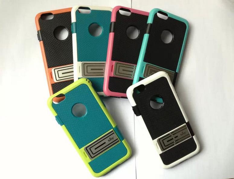 Coque pour Iphone 6 polycarbonate et silicone GC002 1