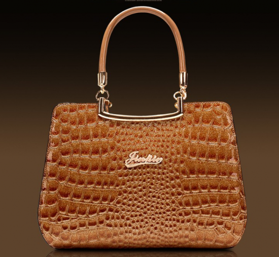 Sac a main imitation cuir crocodile J 213 8