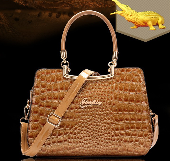 Sac a main imitation cuir crocodile J 213 7