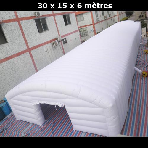 abri gonflable 30x15x6 metres