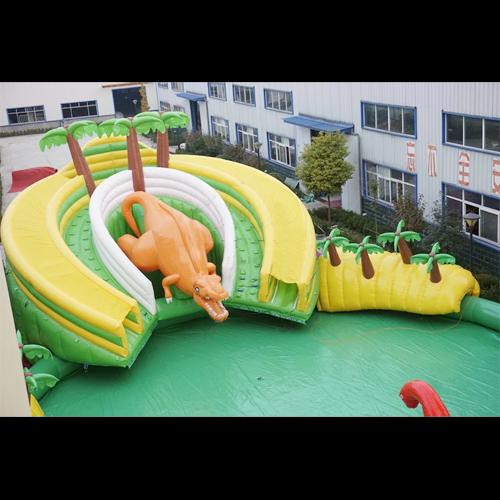 aire de jeu aquatique gonflable dinosaures STRGNFJ549 pic2