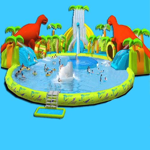 aire de jeu aquatique gonflable dinosaures STRGNFJ549 pic4