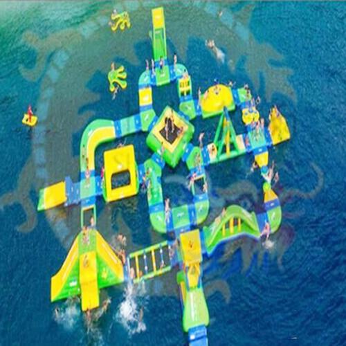 aire de jeu aquatique gonflable en ilots STRGNFJ552