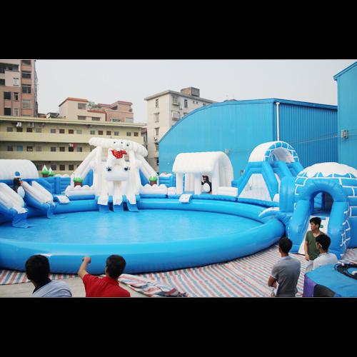 aire de jeu aquatique gonflable neige et glace STRGNFJ548 pic4
