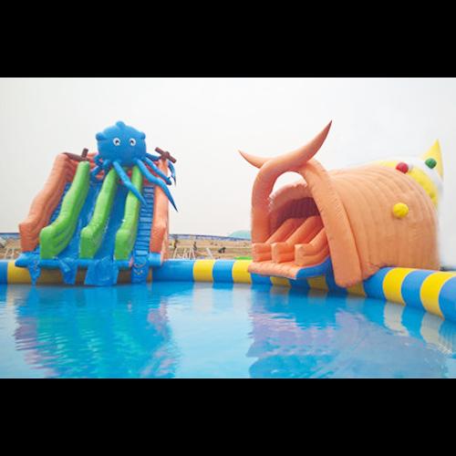 aire de jeu aquatique gonflable pieuvre STRGNFJ550 pic2