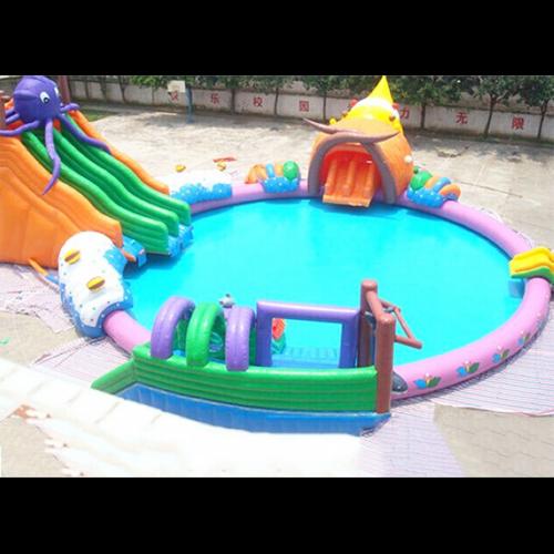 aire de jeu aquatique gonflable pieuvre STRGNFJ550