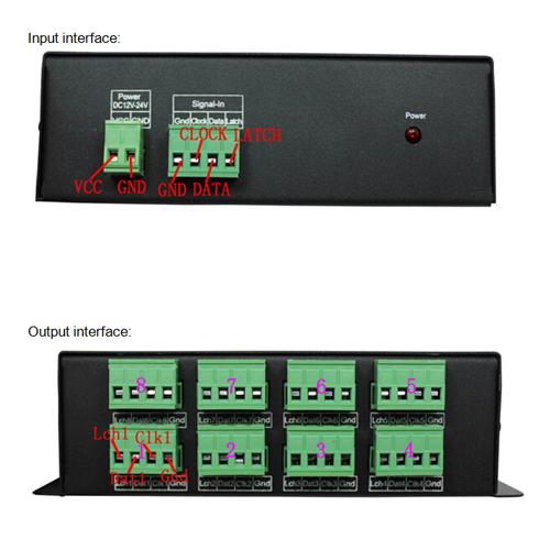 amplificateur led magic 8 sorties AMPMAG800 pic2
