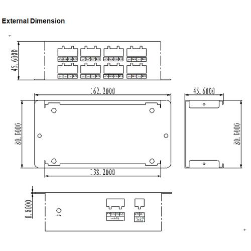 amplificateur led magic 8 sorties AMPMAG800 pic4