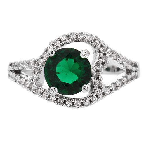 bague femme argent 925 zirconium vert pic2