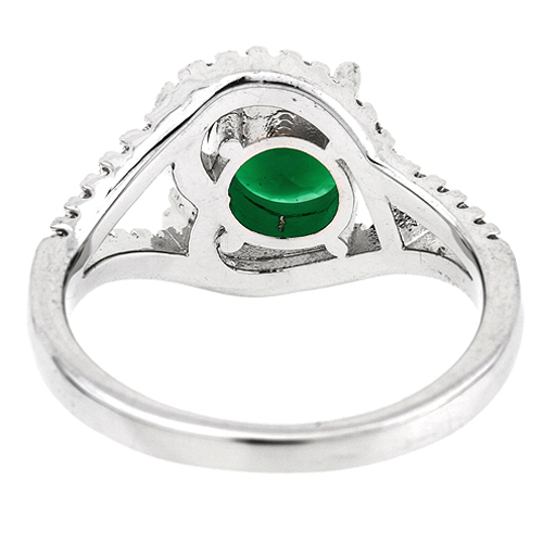 bague femme argent 925 zirconium vert pic4