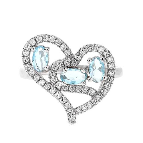 bague femme argent diamant 8100747 pic2