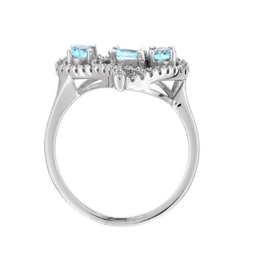 bague femme argent diamant 8100747 pic3