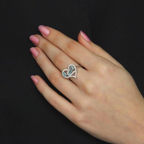 bague femme argent diamant 8100747 pic6