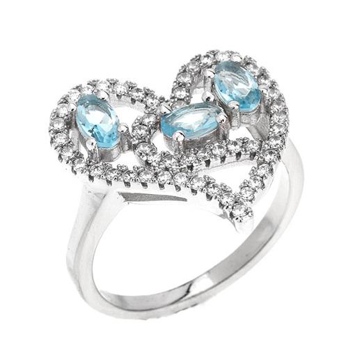 bague femme argent diamant 8100747