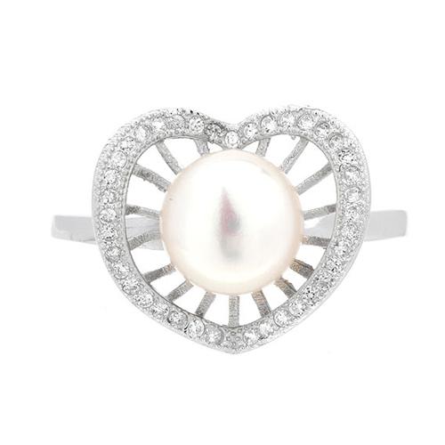 bague femme argent perle 8100965 pic2