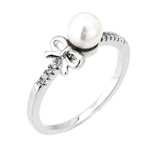 bague femme argent perle 8101168