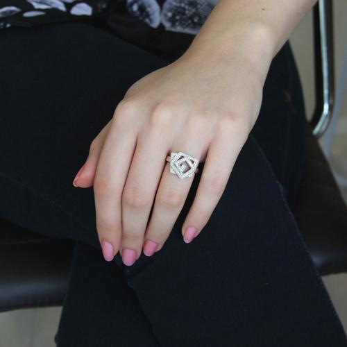 bague femme argent zirconium 8100815 pic5