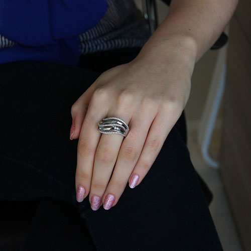 bague femme argent zirconium 8101134 pic5
