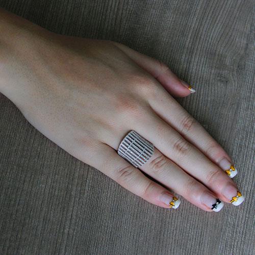 bague femme argent zirconium 8101289 pic5