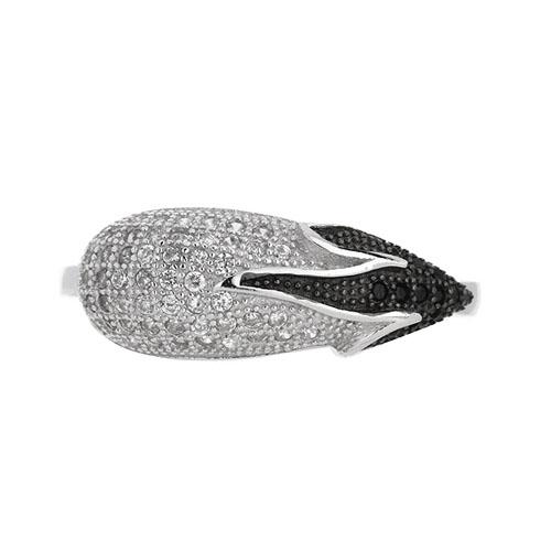 bague femme argent zirconium 8101455 pic2