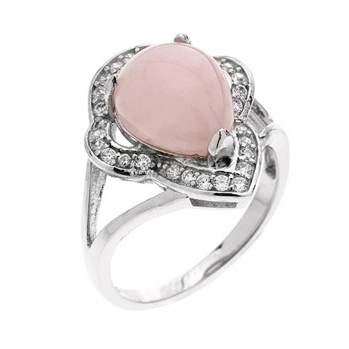 bague femme argent zirconium cristal 8100171