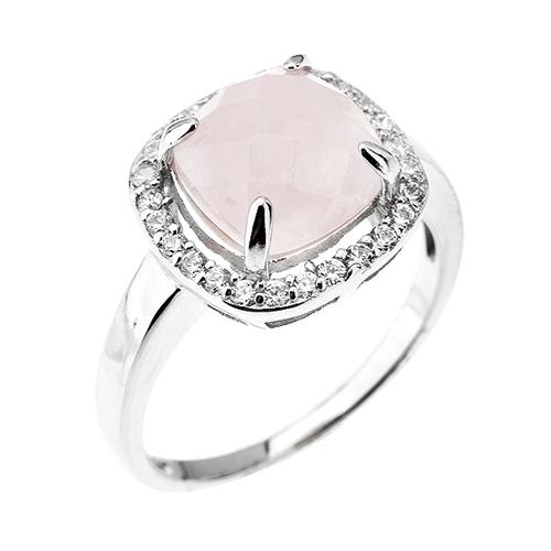 bague femme argent zirconium cristal 8100293