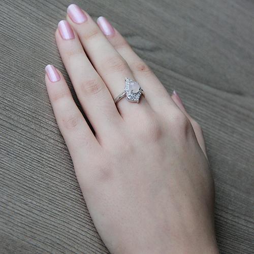 bague femme argent zirconium cristal 8100294 pic6