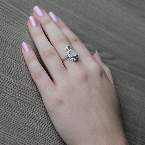 bague femme argent zirconium cristal 8100298 pic6