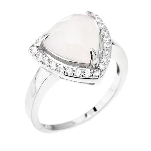 bague femme argent zirconium cristal 8100300