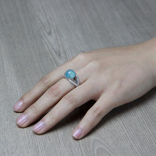 bague femme argent zirconium diamant 8100167 pic6