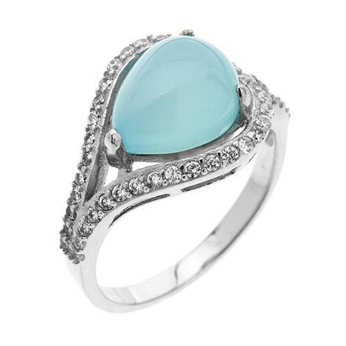 bague femme argent zirconium diamant 8100173