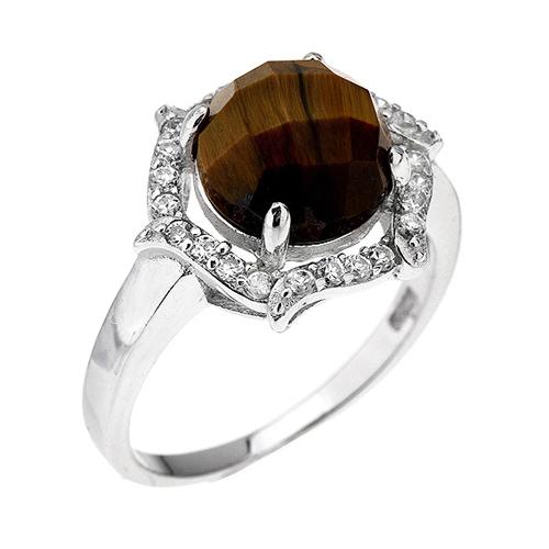 bague femme argent zirconium diamant 8100286